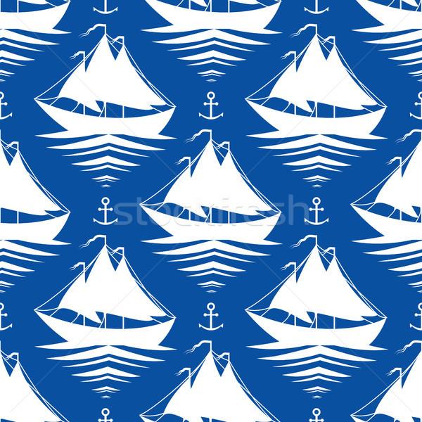 Barche a vela blu acqua sport mare Foto d'archivio © jara3000