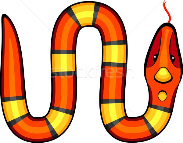 Vettore serpente bianco eps 10 arte Foto d'archivio © jara3000