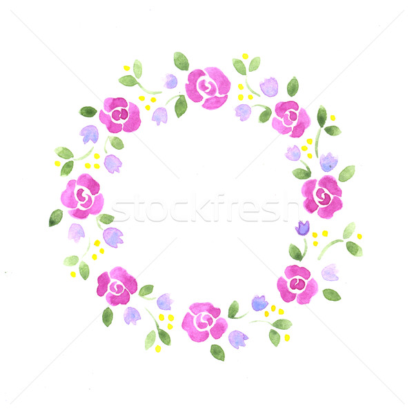 Watercolor decorative floral element Stock photo © jara3000