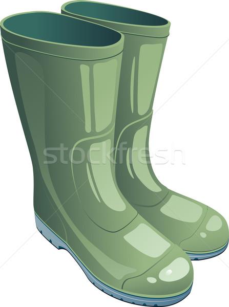 Green rubber boots Stock photo © jara3000