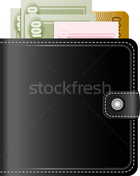 Wallet with money on a white background Stock photo © jara3000