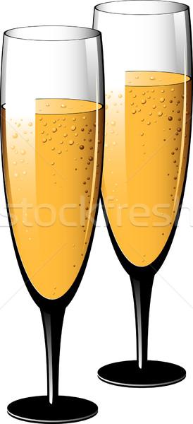 Two glasses of champagne Stock photo © jara3000