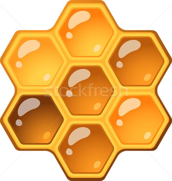 En nid d'abeille isolé blanche eps 10 design Photo stock © jara3000