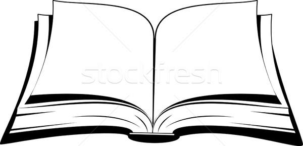 Open boek witte boek abstract kunst onderwijs Stockfoto © jara3000
