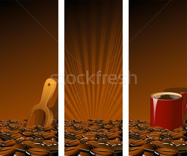 Rosolare caffè vettore eps alimentare Foto d'archivio © jara3000