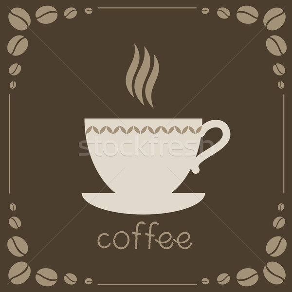 Sign of coffee on brown background Stock photo © jara3000
