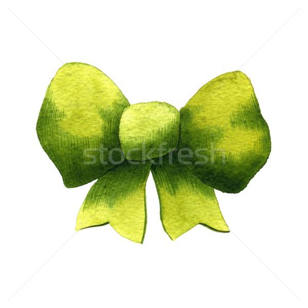 лук зеленый акварель иллюстрация белый цвета Сток-фото © jara3000