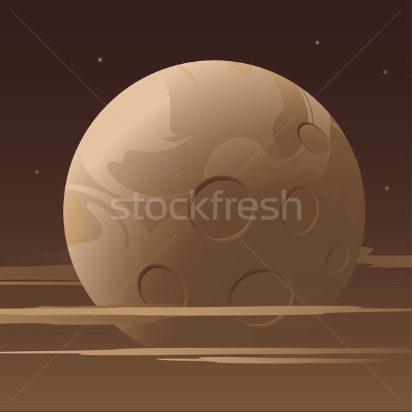 Moon and sky Stock photo © jara3000