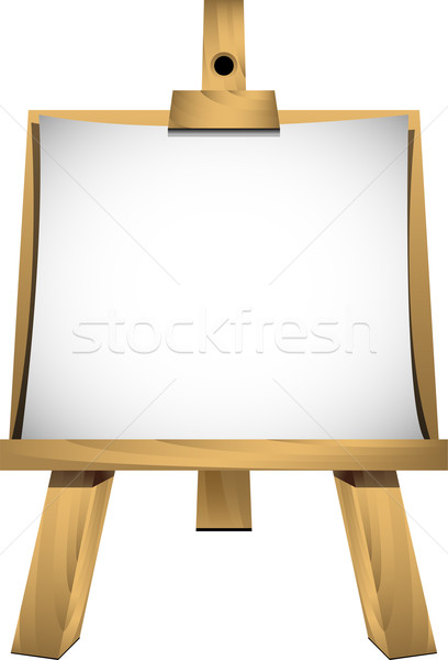 Easel with a blank sheet of white paper for your image or text Stock photo © jara3000