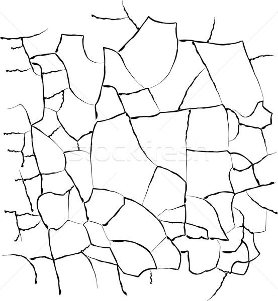 Repedések textúra fekete fehér fal absztrakt Stock fotó © jara3000