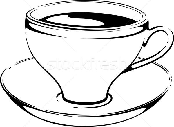 Cup caffè sketch vettore bianco eps Foto d'archivio © jara3000