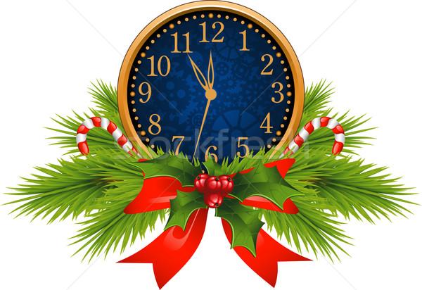 Decorated Clock (New Year's Eve) Stock photo © jara3000