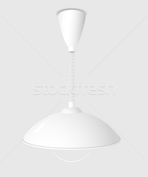 Moderno lampadario bianco grigio eps interni Foto d'archivio © jara3000