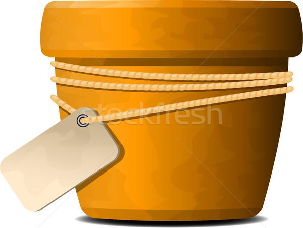 Fioriera bianco eps 10 arancione disegno Foto d'archivio © jara3000