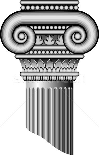 Ionica colonne vettore bianco eps costruzione Foto d'archivio © jara3000