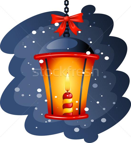Natale eps neve arte arancione Foto d'archivio © jara3000