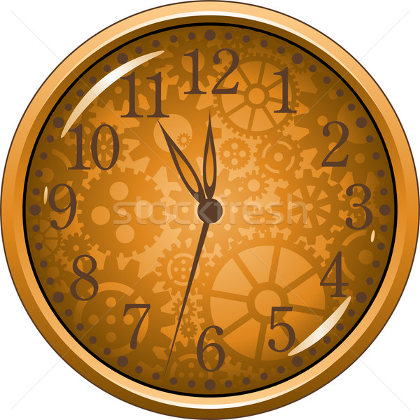 Golden Clock Stock photo © jara3000