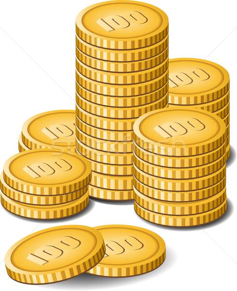 Geld witte eps metaal groep cash Stockfoto © jara3000