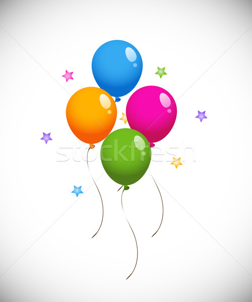 Coloré ballons eps design anniversaire art Photo stock © jara3000