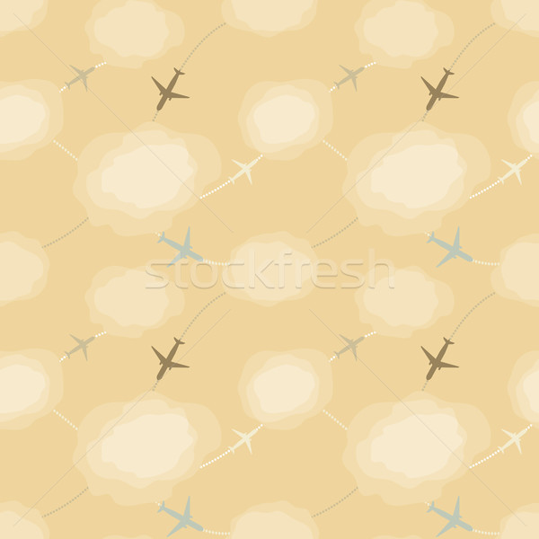 Seamless pattern with planes in the sky Stock photo © jara3000