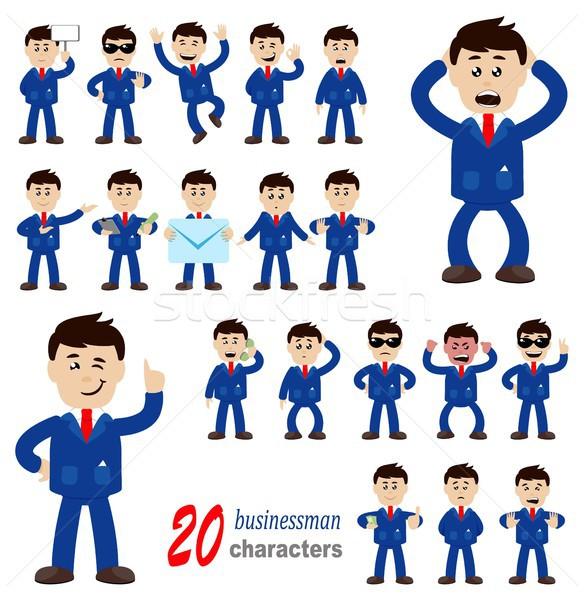 20 бизнесмен вектора прибыль на акцию Сток-фото © jara3000