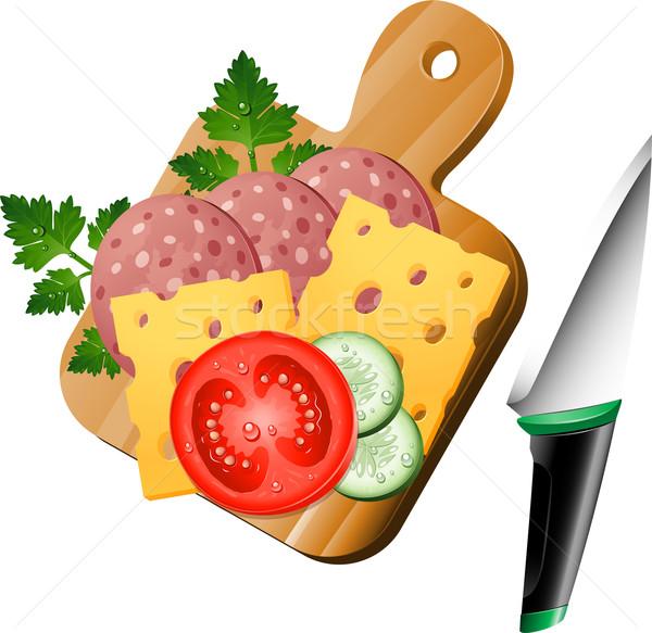食品 まな板 白 eps 10 木材 ストックフォト © jara3000