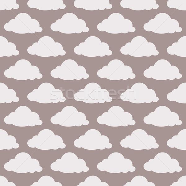бежевый бесшовный облака небе бумаги текстуры Сток-фото © jara3000