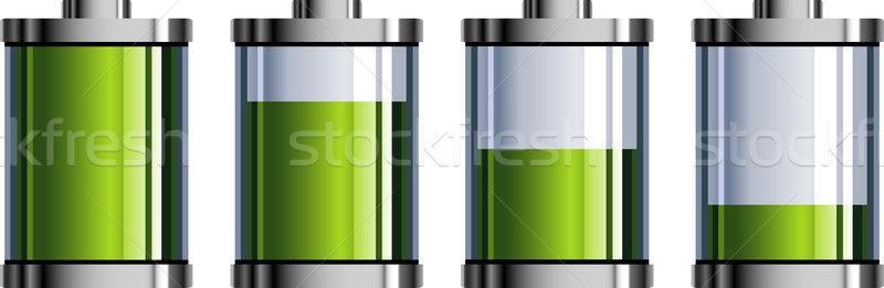 Batterie indicateur blanche eps 10 métal Photo stock © jara3000