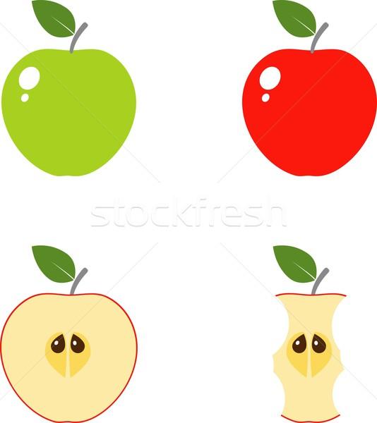 Appel computerpictogrammen ingesteld vector iconen eps Stockfoto © jara3000