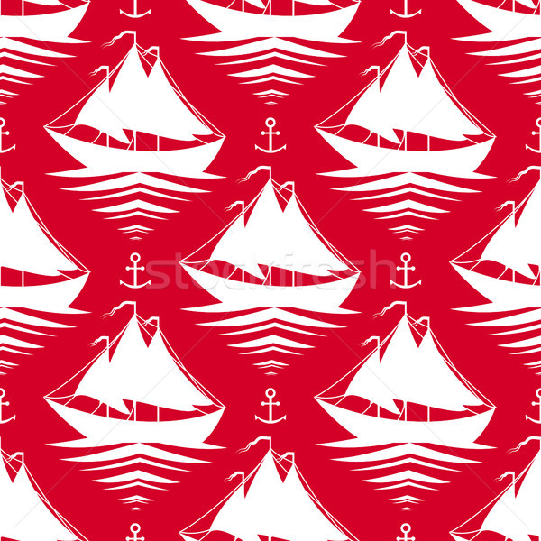 Veleros rojo agua deporte mar Foto stock © jara3000