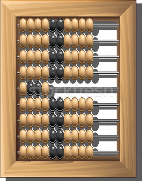 ábaco branco eps 10 madeira trabalhar Foto stock © jara3000