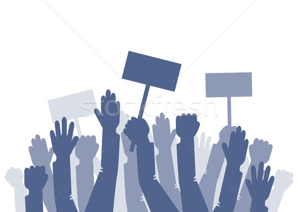 As mãos levantadas eps 10 abstrato projeto assinar Foto stock © jara3000