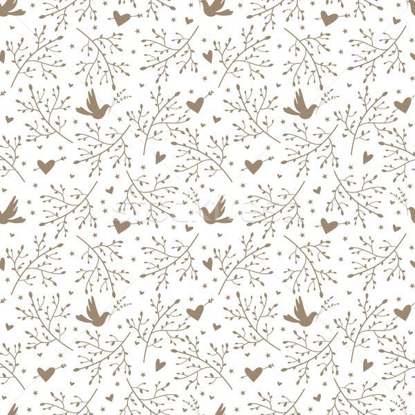 птиц сердцах текстуры любви Сток-фото © jara3000
