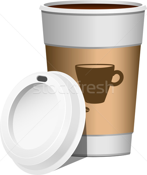 Caffè bianco eps 10 carta alimentare Foto d'archivio © jara3000