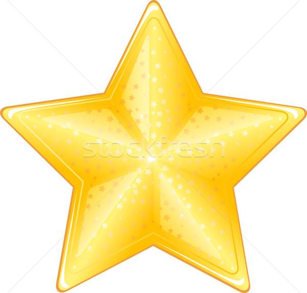 Star icona isolato bianco eps design Foto d'archivio © jara3000