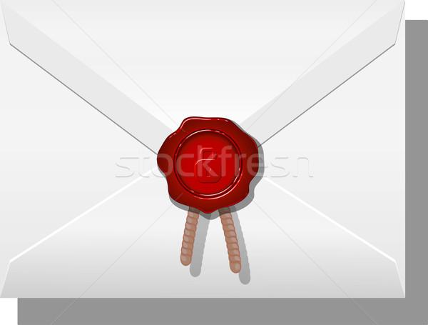 Boríték viasz fehér eps 10 felirat Stock fotó © jara3000