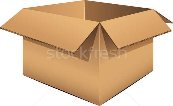 Vuota bianco eps contenitore cartone Foto d'archivio © jara3000
