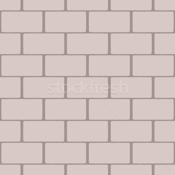 Bézs végtelen minta téglafal textúra épület háttér Stock fotó © jara3000