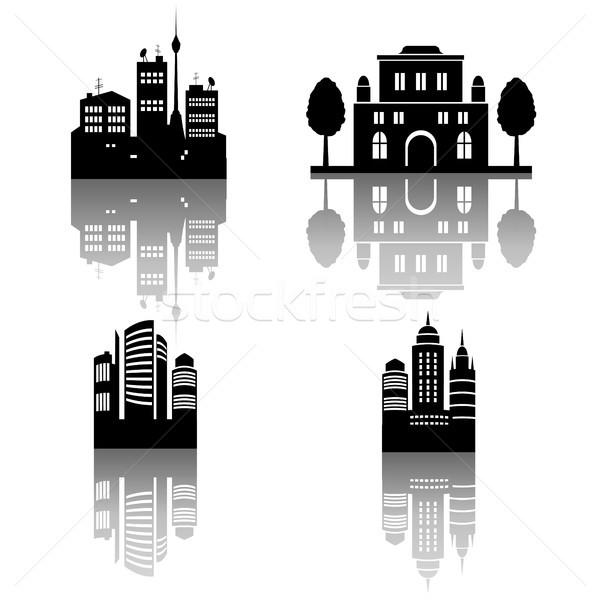 Vier stad silhouetten eps 10 Stockfoto © jara3000