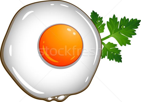 Tükörtojás fehér eps 10 étel levél Stock fotó © jara3000