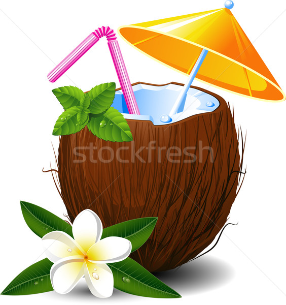 Exotic coconut cocktail Stock photo © jara3000