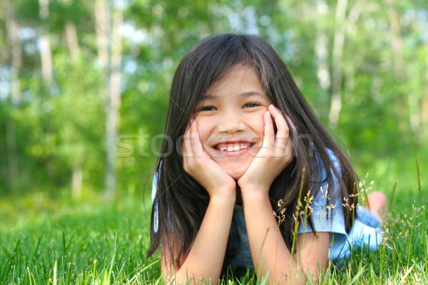 子 草 頭 手 笑みを浮かべて アジア ストックフォト © jarenwicklund