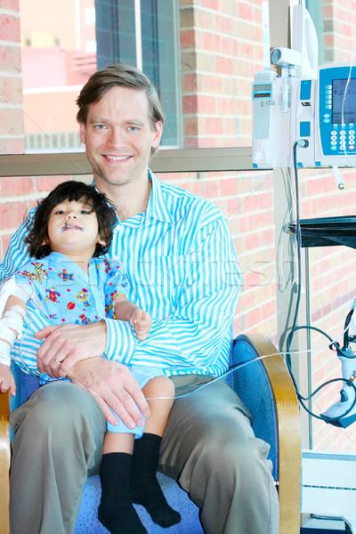 Apa tart gyermek kórház baba fiú Stock fotó © jarenwicklund
