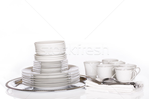 White Dinnerware Stock photo © jarenwicklund