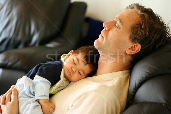 Сток-фото: ребенка · мальчика · спящий · груди · любви · человека