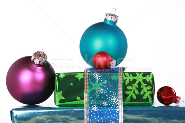 Ornaments and Christmas presents Stock photo © jarenwicklund
