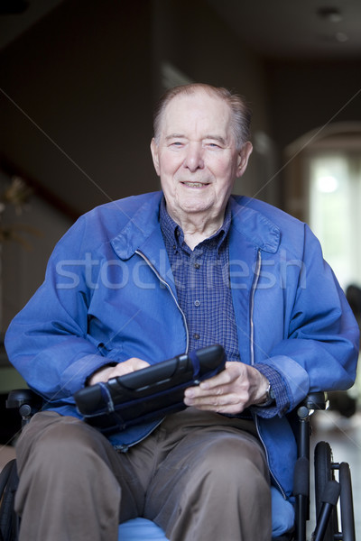 пожилого человека коляске парадная дверь старик Сток-фото © jarenwicklund