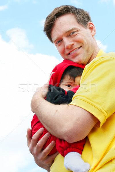 赤ちゃん 腕 雲 愛 幸せ ストックフォト © jarenwicklund