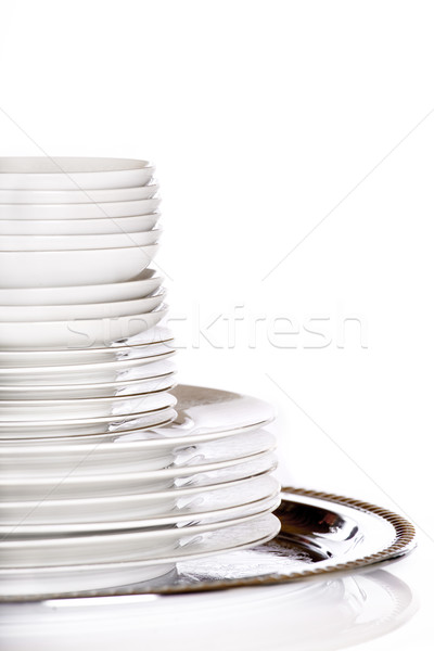 Stack of dishes Stock photo © jarenwicklund