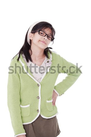 Girl, hand on hip, with fed up expression Stock photo © jarenwicklund